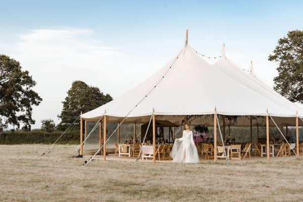White Sailcloth Tent