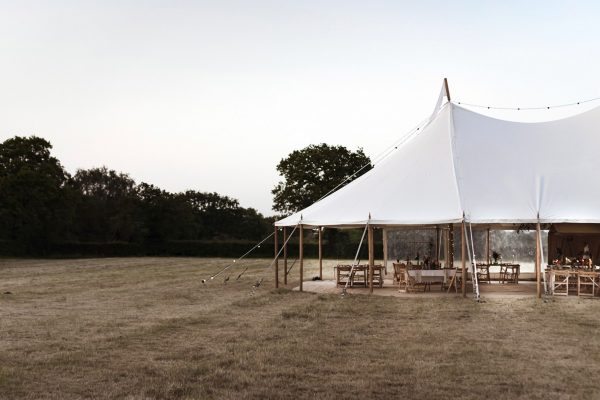 White canvas marquee