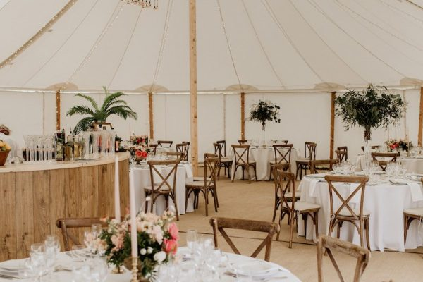 round tables marquee place settings
